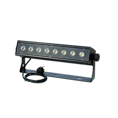 EUROLITE LED PIX-8 QCL todella tehokas LED-palkki RGBW-väreillä 21°. LED-bar with RGBW color mixing. Compact LED color changing bar with 8x 8W four color LEDs.