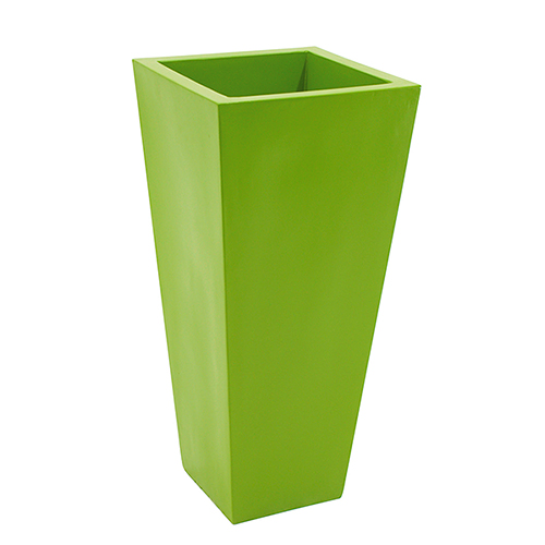 DECO Lasikuituruukku 34 x 65cm vihreä. Fiberglasspot, green. Robust and timeless, perfect for long-term projects