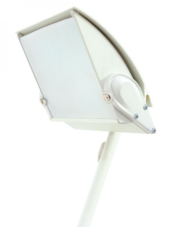 EUROLITE KKL-300 white valaisin, joka sopii esim näyteikkunavaloksi, kojuvalaisimeksi, messuille jne. Halogeeni leveäkeila valaisin tehokkaalle 300W lampulle (tilaa erikseen), hienolla säädettävällä varrella. Mitat 670 x 210 x 90 mm sekä paino 1,5kg.