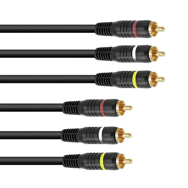 OMNITRONIC CC-150 AV Cable, RCA-kaapeli , discoland.fi