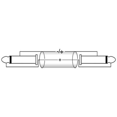 OMNITRONIC Plugi-kaapeli 10m, 2x Jack Plug 6,3mm mono - 2x Jack Plug 6,3mm mono. KK-100