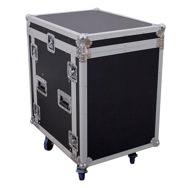 ROADINGER Kuljetuslaatikko pyörillä. Special combo case U 12U asennusleveys 19 tuumaa eli 483mm, asennussyvyys 53cm ja asennuskorkeus 63cm. Maximi kuorma 100kg. Ulkomitat 540 x 720 x 890mm ja paino 36kg.  Monikäyttöinen PRO-luokan tuote.