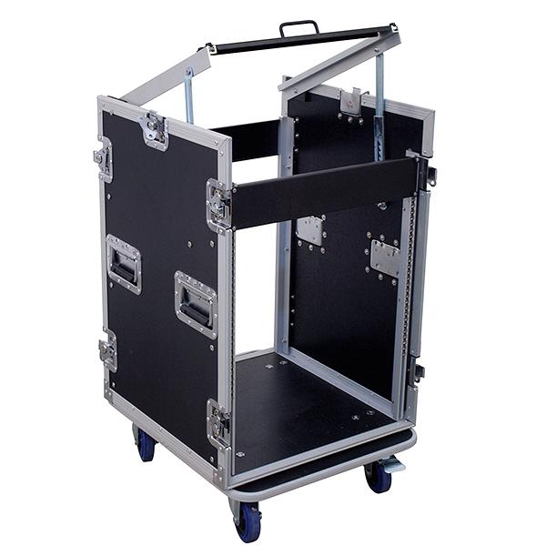 OMNITRONIC Kuljetuslaatikko pyörillä. Special combo Case U 14 U. Professional flight case with castors