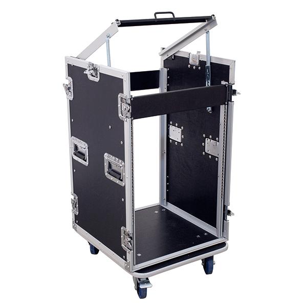 OMNITRONIC Kuljetuslaatikko pyörillä. Special combo Case U 16 U. Professional flight case with castors