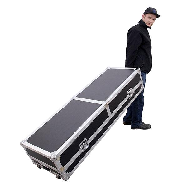 OMNITRONIC Kuljetuslaatikko laptop-telineellä ja pyörillä, kahdelle levysoittimille sekä 19