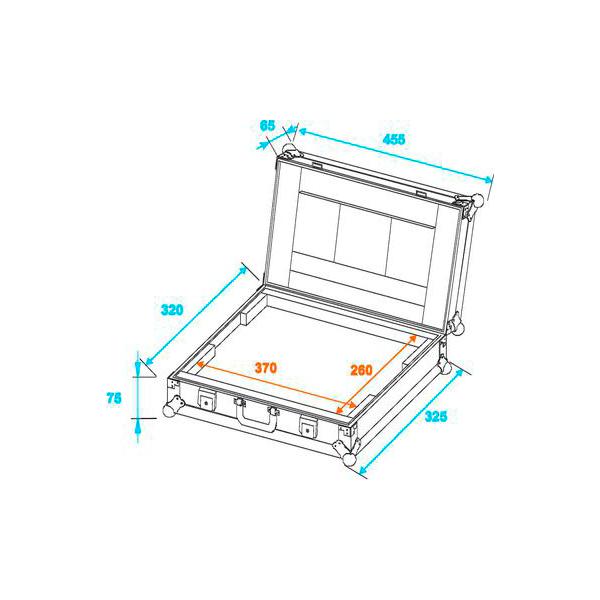 OMNITRONIC Läppärilaukku ja kuljetuslaatikko LC-15. Max. 370x 260x 30mm. PRO laukku 38,1cm läppärille (15