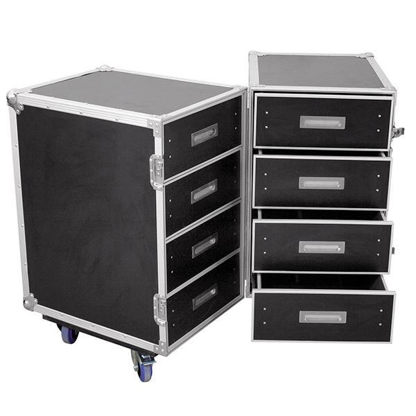 ROADINGER Kuljetuslaatikko DD-2 tupla vetolaatikostolla ja kahdella wheel boardilla yleiskäyttöön.