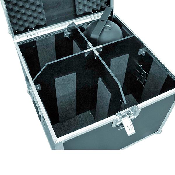 OMNITRONIC Kuljetuslaatikko neljälle pitkälle tai lyhyelle PAR-56 valoheittimelle.