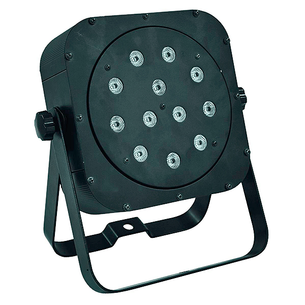 EUROLITE LED SLS-12BCL valkoinen 12x5W LED spot. White 12x 5W Floor 23° LED-valonheitin 2in1 bicolor LEDeillä joissa valkoinen ja oranssi. Tehokas ja ohut LED-spotti, joka voidaan asettaa lähes mihin vaan, esim. kattoon, seinään, lattialle, ständiin, trussiin...
