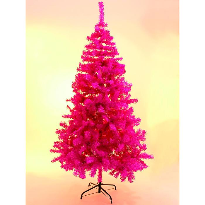 EUROPALMS 240cm Klassinen kuusi, muotivärissä pinkki, mallia ei kimalteleva,  sisältää kuusen jalan. Fir tree, pink, not shiny. Classic fir tree in trendy color, include base
