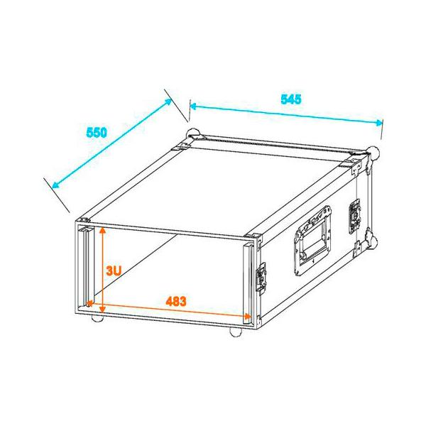 OMNITRONIC Räkki ja kuljetuslaatikko PR-1. 19