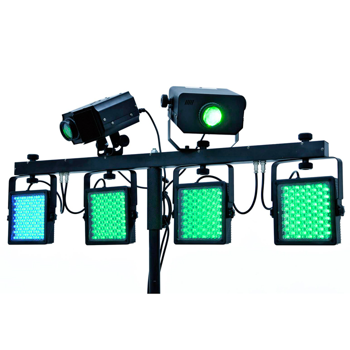 EUROLITE LED-valosetti KLS-Kombo Pack 4. Compact mobile light set.