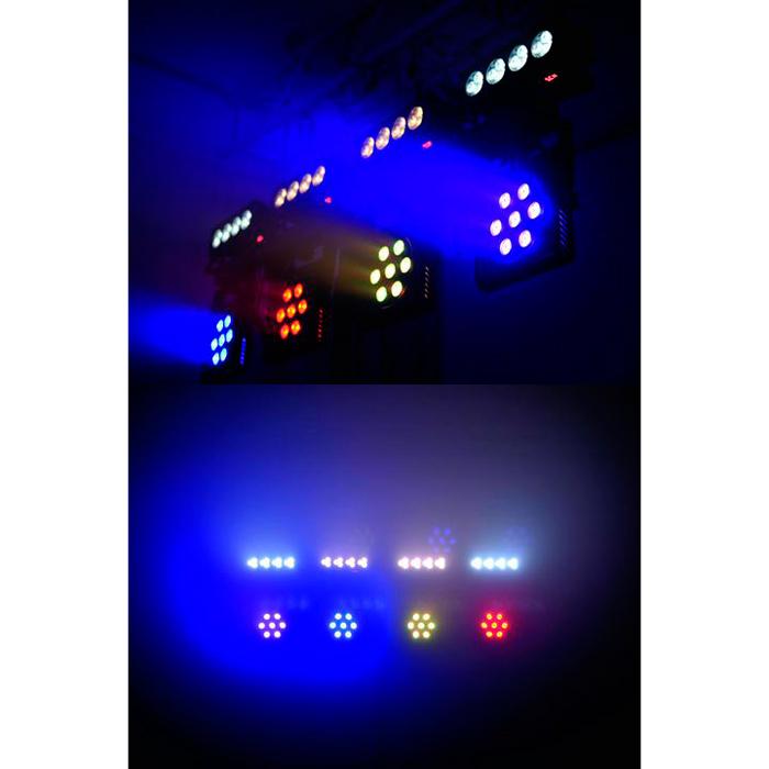 EUROLITE LED-valosetti KLS-Kombo Pack 6. HUOM! 2kpl LED-palkkia lämpöisillä valkoisilla LEDeillä ja 2kpl LED-palkkia kylmillä valkoisilla LEDeillä. Compact mobile light set.