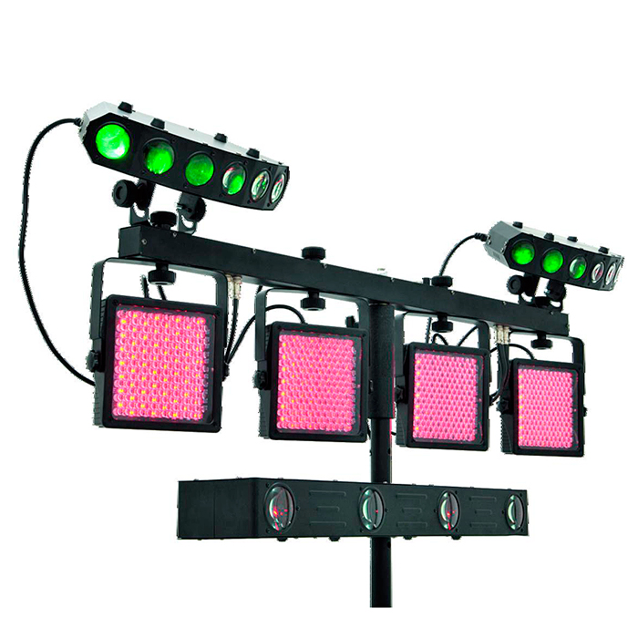 EUROLITE LED-valosetti KLS-Kombo Pack 8 Compact mobile light set. 1x 42109781: EUROLITE LED KLS-401 Compact Light Set