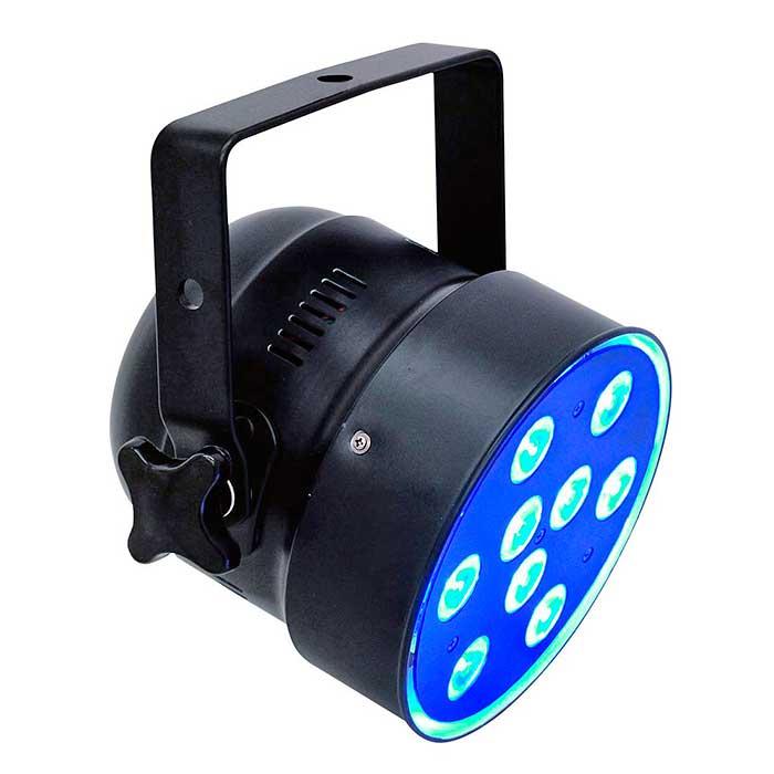 EUROLITE LED PAR-56 valonheitin QCL 9x 8W quadcolor LEDeillä 20°, lyhyt musta.