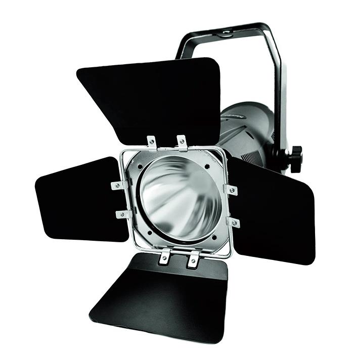 FUTURELIGHT PCT-3200 LED teatterivalonheitin Spot pro 80W BXRA-W3000 LEDillä 20°, lämmin valkoinen 3000 kelviniä 3400 lumenia. Spot light with Bridgelux BXRA LED with 3000 kelvin.