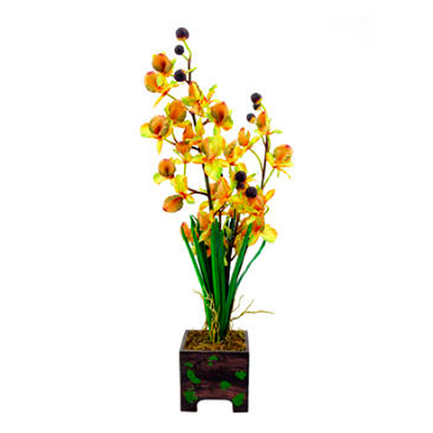 EUROPALMS 60cm Orkidea väri keltainen. , discoland.fi