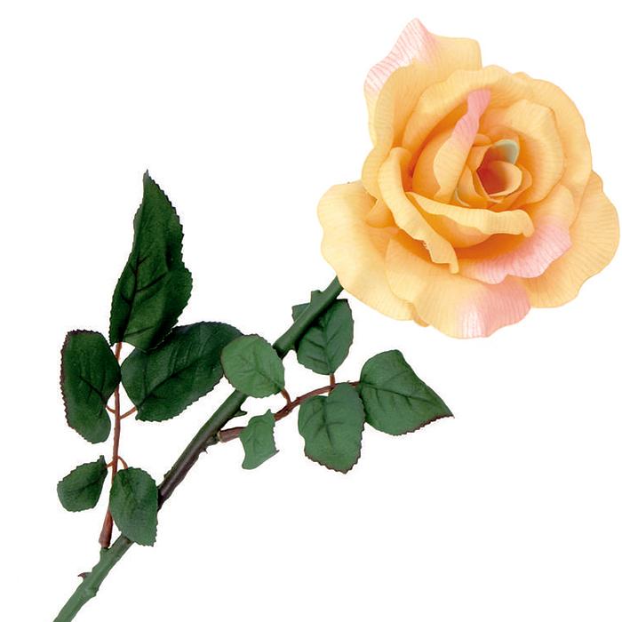 EUROPALMS 65cm Ruusu kermanvärinen. Rose cream. Opened rose in a gentle cream color