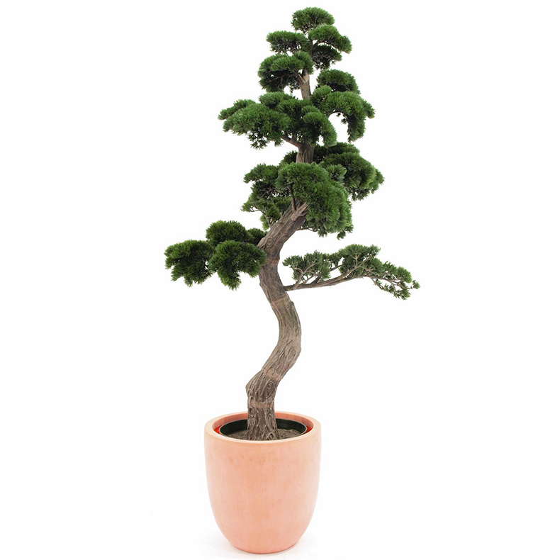EUROPALMS 180cm Bonsai-mänty deco-ruukussa. Bonsai Pine, very noble artificial plant for the highest expectation