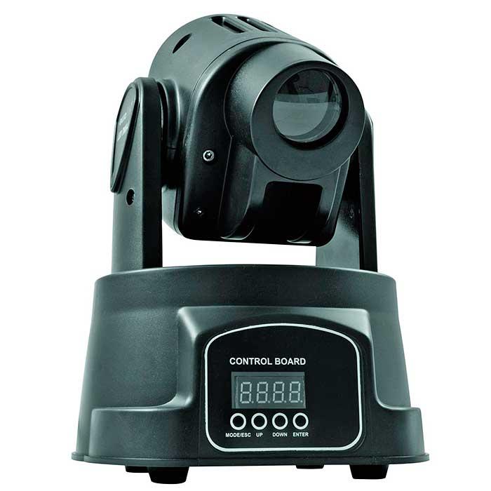 EUROLITE LED TMH-8 Pieni Moving Head Spot tehokkaalla 10W CREE quad color LEDillä ja RGBW-väreillä.