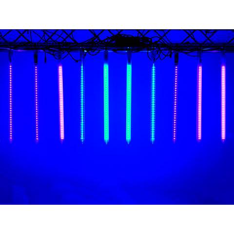 EUROLITE LED Pixel Tube 360° himmeä 24V DC, RGB-värit, 10 putkea voidaan ohjata yhdellä ohjaimella. LED Pixel Tube 360° milky 24V DC.