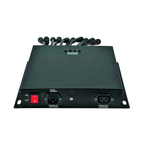 EUROLITE LED-valo-ohjain virtalähde Pixel tubelle PSU-24V/10 DC LED Pixel Tube 360° putkille, max. 10kpl putkea. Controller for EUROLITE LED Pixel Tube 360.