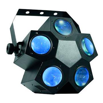 EUROLITE LED PTN-5 Näyttävä Flower efekti 160x 5mm LEDiä 46°. Valmiit ohjelmat, auto mode, musiikkiohjaus, sisäänrakennetut ohjelmat, strobe säädettävissä DMX:n kautta, DMX-ohjaus tai stand-alone, master/slave.