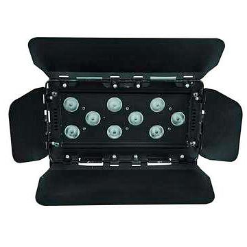 EUROLITE LED CLS-9 Valaisin 9x 8W QCL 4in1 LEDiä 12°, RGBW-värit, DMX, stand alone tai musiikkiohjaus, mitat 335 x 185 x 210 mm, paino 5,0kg.