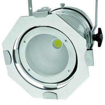 EUROLITE LED PAR-56 50W COB LED 35°, 5600K päivänvalo, alu. PAR-56 with white COB LEDs, silver.