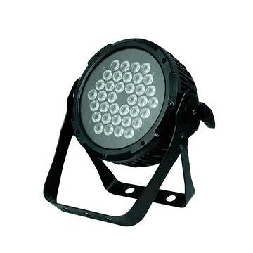 FUTURELIGHT LED PRO Slim PAR-36 CW/WW. 36x 1W LEDiä; 18x kylmä valkoinen ja 18x lämmin valkoinen. Professional slimline LED spot.