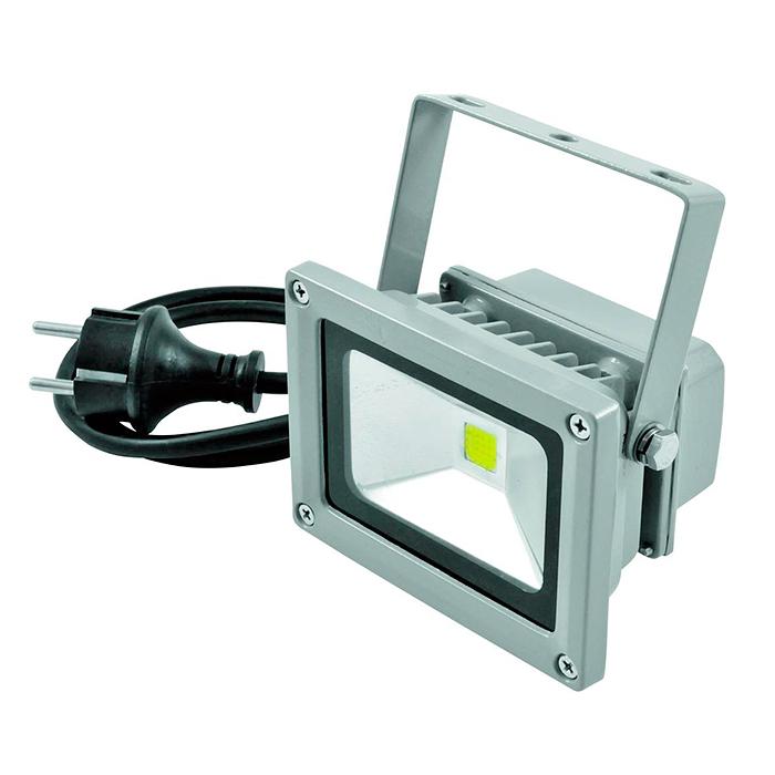 EUROLITE LED FL-10 IP54 LED-ulkovalaisin 10W COB LED. Valon värilämpötila 6400K (kylmä valkoinen), valokeilan aukeamiskulma 120°. On niin