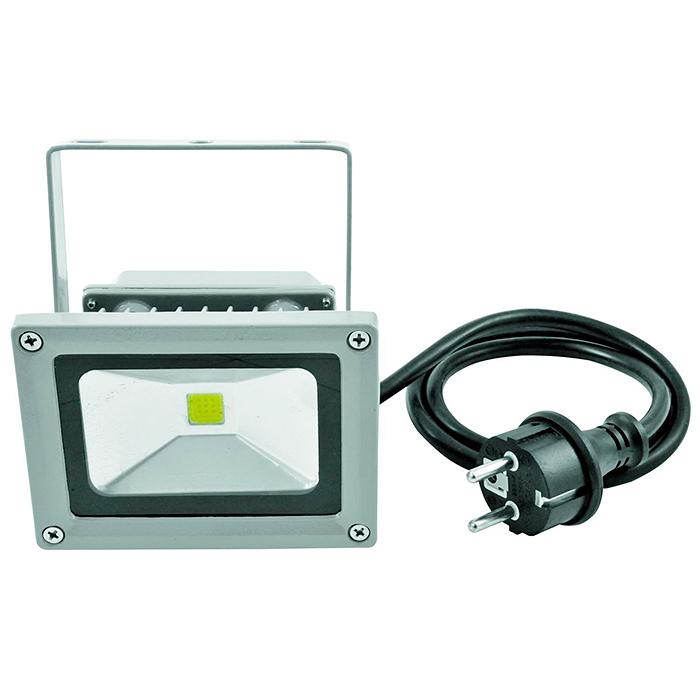 EUROLITE LED FL-10 IP54 LED-ulkovalaisin 10W COB LED. Valon värilämpötila 3000K (lämmin valkoinen), valokeilan aukeamiskulma 120°. On niin