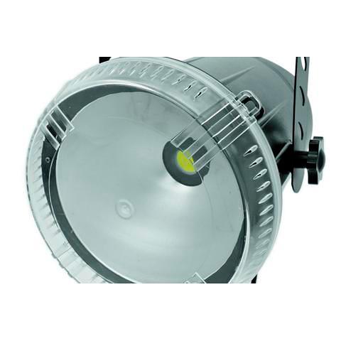 EUROLITE LED Techno Strobe COB DMX, 50W COB LED, tehokas, kirkkaus ja välähdystiheys portaattomasti säädettävissä. DMX, stand alone tai musiikkiohjaus, master/slave. LED COB strobe with DMX control