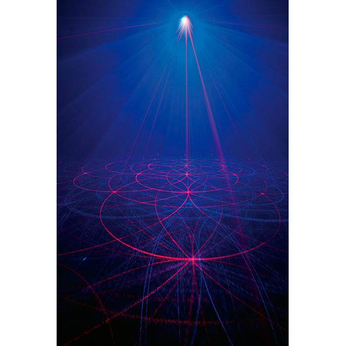 ADJ LOPPU!!!!Micro Royal Galaxian laser, sininen laser 60mW ja punainen 80mW, musiikkiohjaus ja auto run, sisäänrakennetut valo-ohjelmat. Tässä upeassa punaisen ja sinisen yhdistelmä laserissa on kaukoohjain jonka avulla voit muuttaa pyörimissuuntaa, valita yhden tai kaksi väriä, käyttää musiikin mukaan tai automaatilla. Saat myös laitteen päälle ja pois vain kaukosäädintä klikkaamalla.