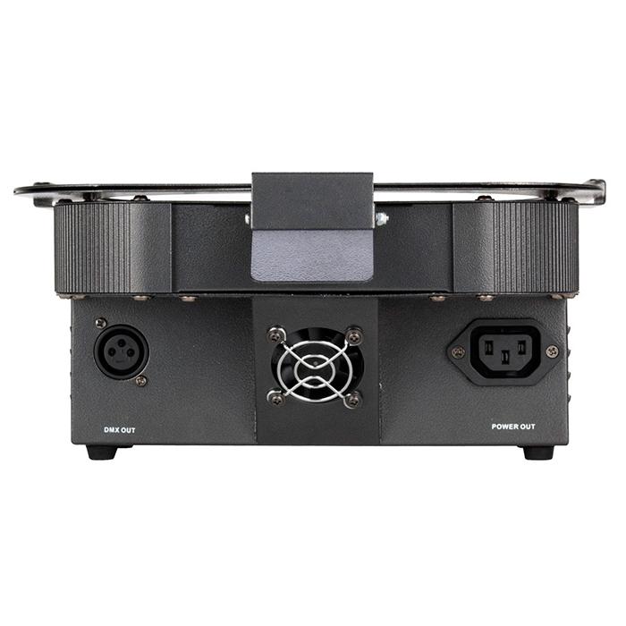AMERICANDJ Flat Par CWWW 18 LED-valoheitin valkoisilla LEDeillä, 9x 3W LEDiä lämmin valkoinen 3000K ja 9x 3W LEDiä kylmä valkoinen 6000K, värilämpö portaattomasti säädettävissä välillä 3000-6000K, 40˚, himmennettävä 0 - 100%, DMX, musiikkiohjaus, auto run, white presets mode, color dimmer mode, color fade mode