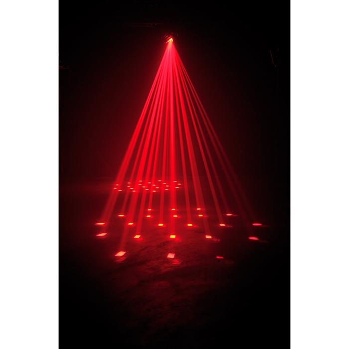 AMERICANDJ Vio Roll LED-efekti, 10W RGBW Quad Color LED, valokeila 30˚, himmennettävä 0-100%, strobe, DMX, master/slave, musiikkiohjaus, sisäänrakennetut valo-ohjelmat
