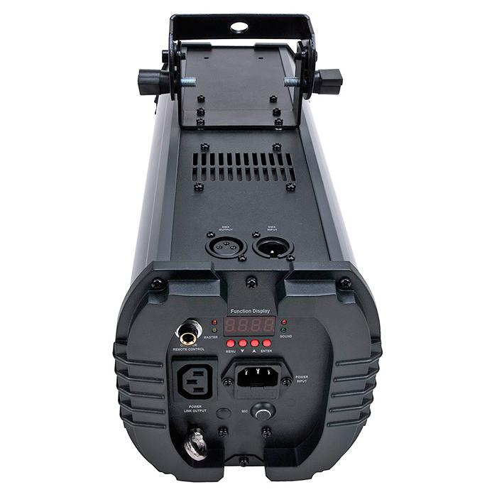 AMERICANDJ Vio Scan LED-efekti, 10W RGBW Quad Color LED, valokeila 30˚, himmennettävä 0-100%, strobe, DMX, master/slave, musiikkiohjaus, sisäänrakennetut valo-ohjelmat