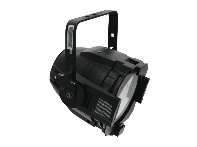 EUROLITE LED ML-56 valonheitin 100W COB LED 60° 5600K päivänvalo, musta, himmennin, strobe, DMX-ohjaus tai stand-alone, master/slave. LED spotti multilinssi designillä. Tehokas 100W Chip on borad LED valo 100W. Mitat 240 x 300 x 310 mm sekä paino 4,0kg.