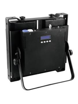 EUROLITE PRO Audience Blinderi RGB-väreillä, 4x 60W RGB COB LEDiä, 90°, staattiset värit, RGB-värisekoitus, sisäänrakennetut ohjelmat, himmenin ja strobe asetukset DMX:n kautta, musiikkiohjaus, DMX-ohjaus tai stand-alone, master/slave.