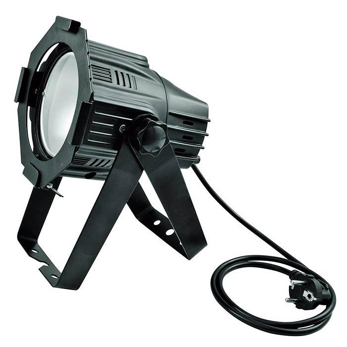 EUROLITE LED valonheitin ML-30 30W RGB COB LED 90°, musta, himmennin, sisäänrakennetut ohjelmat, musiikkiohjaus, DMX-ohjaus tai stand-alone, master/slave. LED spot in multi lens design. Mitat 175 x 200 x 270 mm 2,0kg.