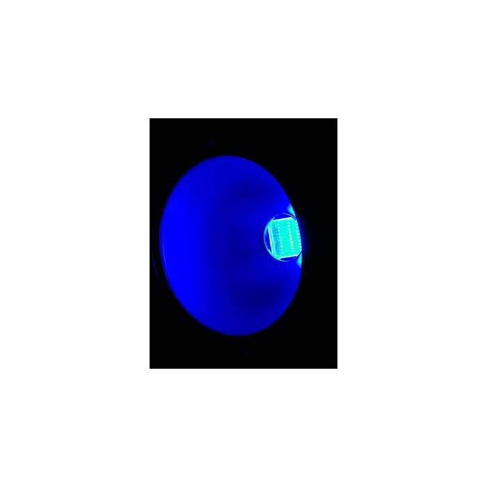 EUROLITE LED PAR-56 valonheitin 100W RGB COB LED 40°, alu, staattiset värit, RGB-värisekoitus, himmennin ja strobe-efekti DMX:n kautta, sisäänrakennetut ohjelmat, musiikkiohjaus, DMX-ohjaus tai stand-alone, master/slave. Professional spot in DMX format with COB LED.