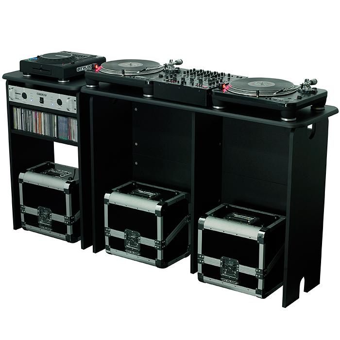 GLORIOUS Miksausasemapöytä 1280 x 898 x 430mm, musta. Mix Station black