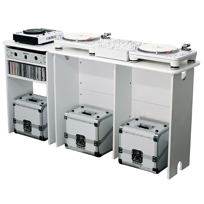 GLORIOUS Laajennus miksausasemapöytään 560 x 898 x 430mm, valkoinen. Mix Extension white
