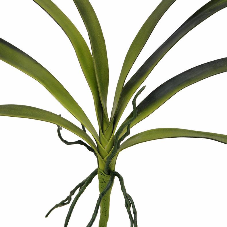 EUROPALMS 45cm Orkidean lehdet ilmajuurilla, vihreäkeltainen, pehmoista muovisekoitetta, sopii myös ulkokäyttöön. Orchid leaf (EVA), green. Strikingly genuine mother-in-law's tongue made of soft new material