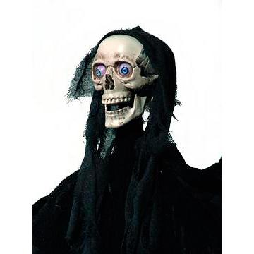 EUROPALMS Halloween hahmo synkkä enkeli elävöitetty moottorilla, äänitehosteella ja LED-valoilla 150cm, ripustettava, tuotetta ei ole palosuojattu, palosuojaukseen sopivaa palosuoja-ainetta katso Tuotteeseen yhteensopivat tuotteet