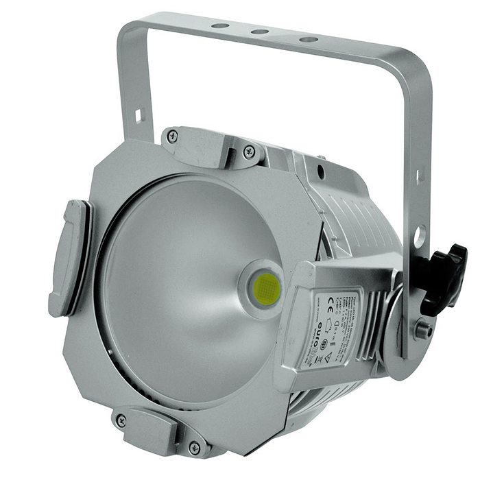 EUROLITE LED ML-56 valonheitin, 100W COB LED 60° 5600K päivänvalo, alumiini, himmennin, strobe, DMX-ohjaus tai stand-alone, master/slave. LED spot in multi lens design with powerful white LED.