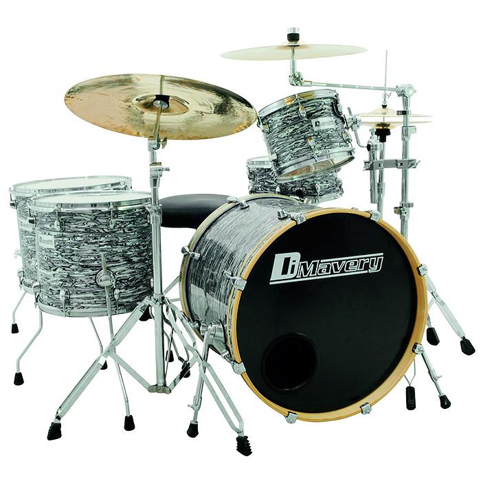 DIMAVERY DS-555 Upea rumpusetti, ilman peltejä. 5-piece Drum set Oyster. Professional kit.