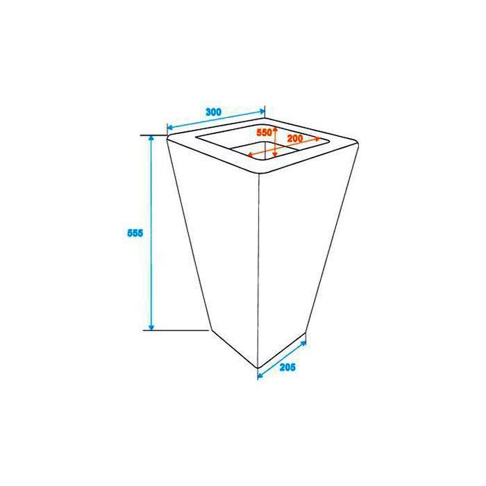 DECO Rottinkijäljitelmä suojaruukku näyttävään sisustukseen 30 x 30 x 55cm, tummanharmaa. Polyrattan pot. Premiumly braided cachepot in a timeless design