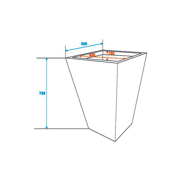 DECO Rottinkijäljitelmä suojaruukku näyttävään sisustukseen 50 x 50 x 75cm, tummanharmaa. Polyrattan pot. Premiumly braided cachepot in a timeless design