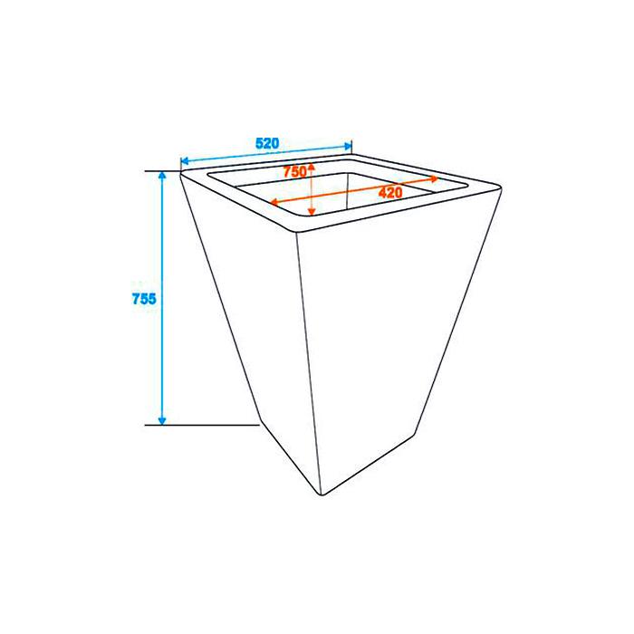 DECO Rottinkijäljitelmä suojaruukku näyttävään sisustukseen 50 x 50 x 75cm, tummanruskea. Polyrattan pot. Premiumly braided cachepot in a timeless design